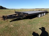 #3303 TRAIL BOSS 28' TRIPLE AXLE TRAILER 16' DECK 5' BEAVERTAIL 5' RAMPS GV