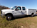 #1001 2006 FORD F350 DUALLY DIESEL 4 WD CREW CAB AUTO TRANS 242147 MILES 8'