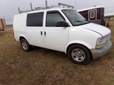 #1602 2004 ASTRO CARGO VAN 199250 MILES LADDER RACK REC HITCH BUCKET SEATS