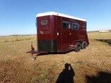 #601 1999 HORSE TRAILER V NOSE BY BEE TRAILERS 14 HT TANDEM AXLE 16' OVERAL