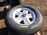 #2414 3 BARELY USED MICHELIN LTX MS2 P265 70R18 1147 ON CHEVY 5 LUG WHEELS