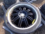 #2403 3 USED NEXEN ROADIAN HP 305 35R24112V EXTRA LOAD KMC 6 LUG WHEELS