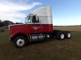 #7401 1987 VOLVO SLEEPER CAB SHOWING 112716 MILES CUMMINS DIESEL POLISHED A