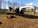 #802 2006 GOOSE NECK TRAILER DUAL TANDEM AXLE 37' OVER ALL 8' GOOSE NECK 24