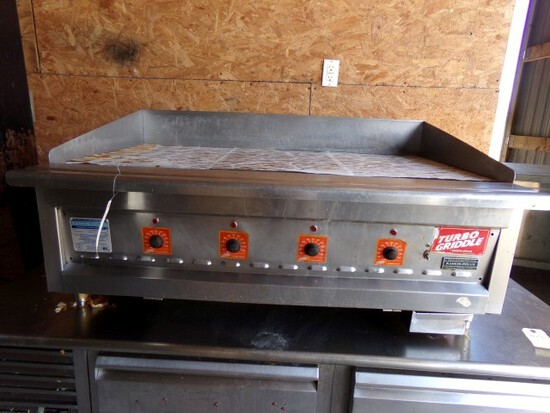 RANKIN DELUXE TURBO GRIDDLE MOD RD 100 48 SN B3475 BTU HR BURNER 20000 PROP