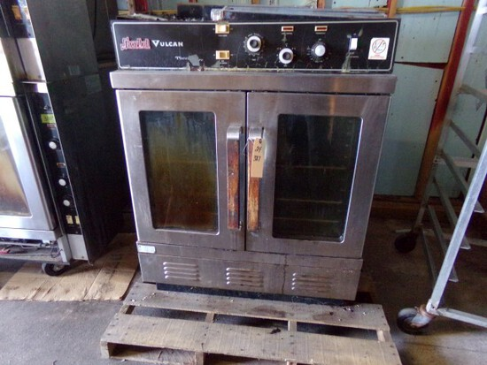 SNORKEL VULCAN GAS FULL SIZE CONVECTION OVEN FREE STANDING ROUGH CONDITION
