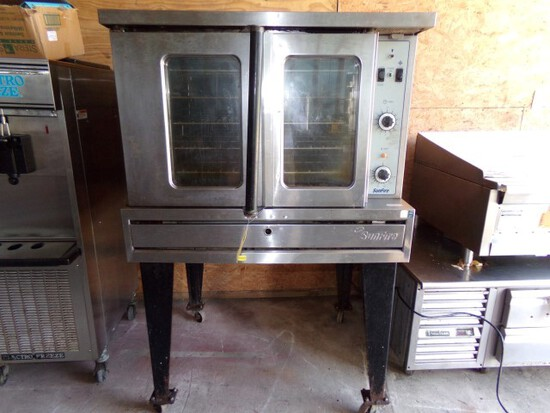 SUNFIRE FULL SIZE CONVECTION OVEN MOD SD61 FREE STANDING ON CASTERS GAS 800
