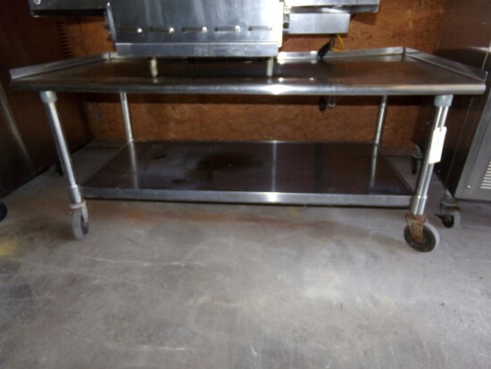 "EAGLE 60"" EQUIPMENT TABLE MOD T3060SGS ON CASTERS"