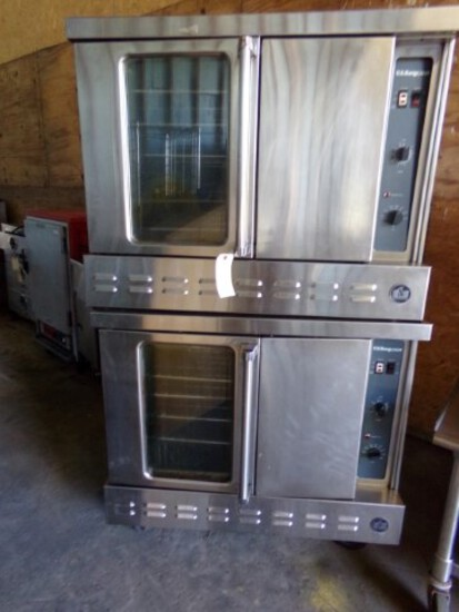US RANGE ALCO DBL STACK CONVECTION OVENS TOP MOD CG2 SN 301673 99D9 NATURAL