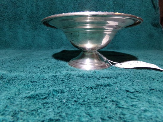 ROGERS STERLING PEDESTAL DISH 3040 WEIGHTED 5.32 T OZ