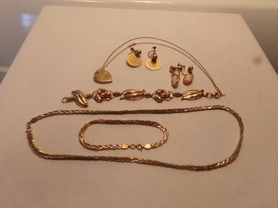 10 12 AND 14 KT GOLD FILLED JEWELRY 16 DET