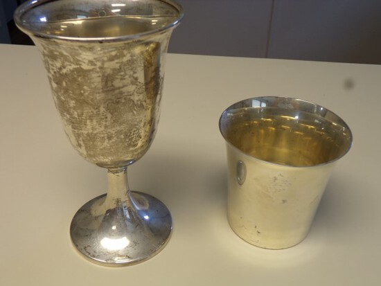STERLING GOBLET AND CUP 7.64 T OZ
