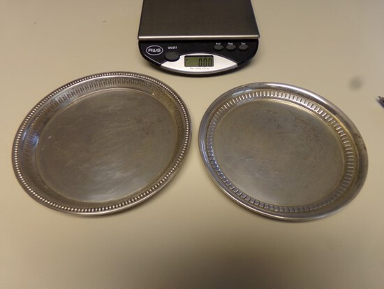 2 WALLACE STERLING PLATES 6 1/2 AND 7 INCH 6.65 T OZ