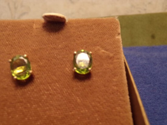 14 KT GOLD AND APPROXIMATELY 3/4 CARAT EARRINGS