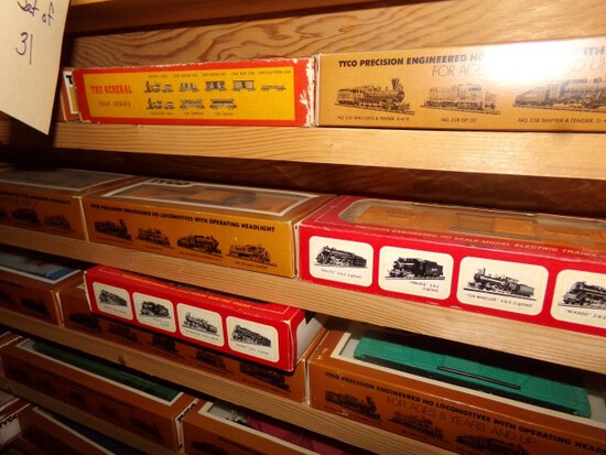 SET OF 31 TYCO TRAINS NEW IN BOX MILLER PA RR B&O JELLO AUTOMATED RR C&H SU