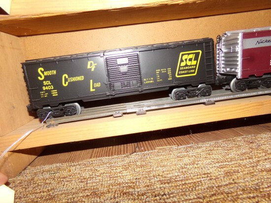 SET OF FOUR LIONEL CARS SCL 9403 NKP 9404 CIRR 9405 RIO GRANDE D&R GW 9406