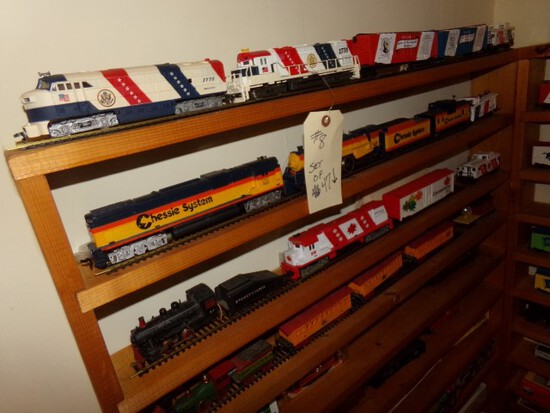 SET OF 47 TRAINS INCLUDING 31 TYCO HO SCALE 1776 SEABOARD HEROES OF REVOLUT