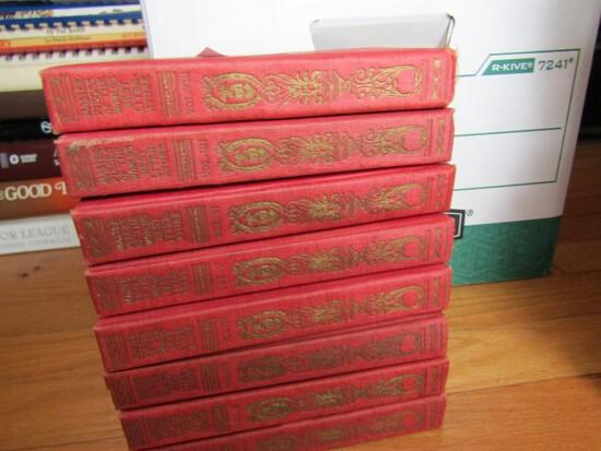 SET OF EIGHT VOLUMES MASTERPIECES OF WORLDS BEST LITERATURE