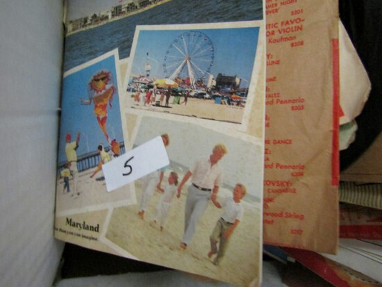 BOX LOT OF 45 RECORDS OCEAN CITY MAGAZINES FROM 1980S AND PLAYBILLS