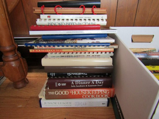 COLLECTION OF BOOKS MOSTLY COOK BOOKS THE CATHEDRAL COOK BOOK WELCOME STRAN