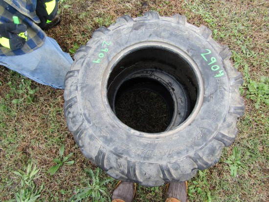 #2904 2 USED GOODYEAR RAW HIDE AT 25X11-12