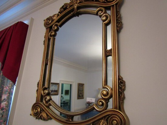 46 INCH ITALIAN STYLE GILDED WALL MIRROR