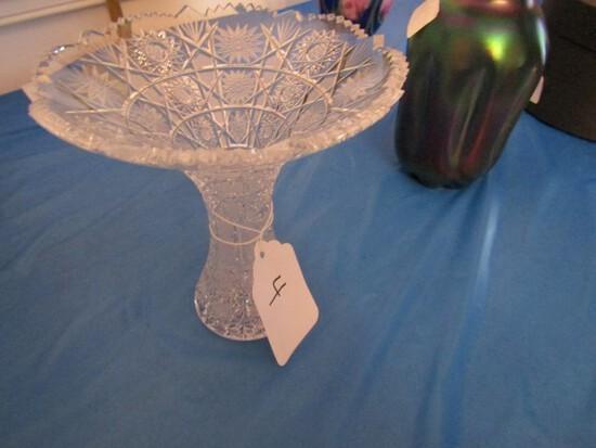 6 INCH AMERICAN BRILLIANT PERIOD CUT GLASS VASE