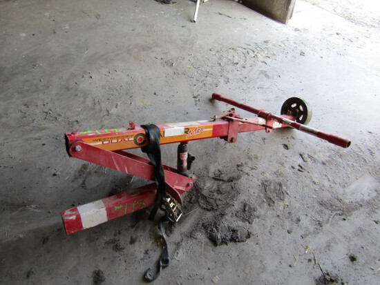 #118 WESTNDORF DUAL TIRE CHANGER HAS BOTTLE JACK AND STRAPS
