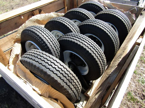 #2504 CRATE OF 8 HAMILTON CASTER WHEELS 4.80 / 4.00 8 TIRES GREASE FITTING