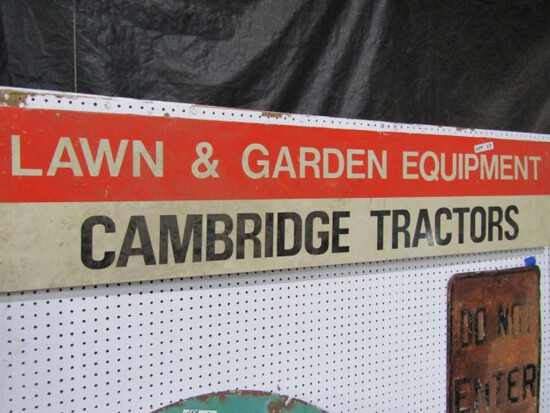 CAMBRIDGE TRACTORS SIGN METAL APPROXIMATELY 70 X 15