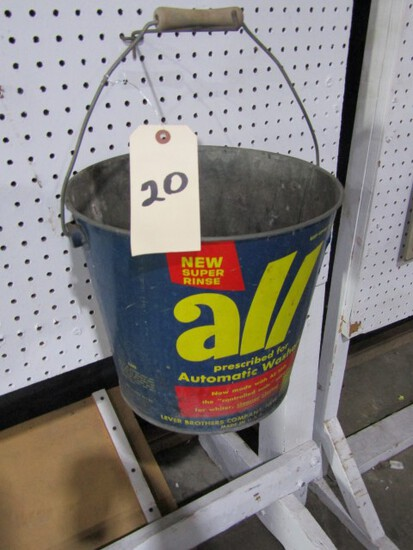 ALL AUTOMATIC WASHERS BUCKET ADVERTISING 11 INCH TALL
