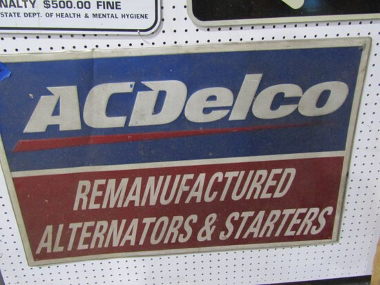 ACDELCO SIGN METAL APPROXIMATELY 36 X 24