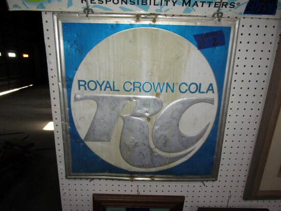 ROYAL CROWN COLA METAL SIGN 24 X 24