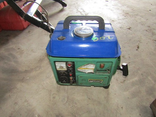 #203 PORTABLE GENERATOR 2 AC OUTLETS VOLTMETER DC RECEPTICLE BRAND UNKNOWN