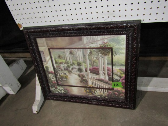 PAINTING BY B BROWN ANTIQUE STYLE FRAME 24 X 20