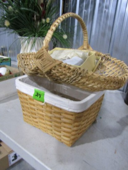 TWO BASKETS AND BABY SHOES