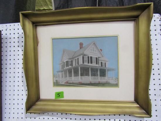 FRAMED PRINT HARRISON HOUSE IN NEWARK MD 24 X 20