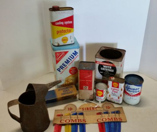 Lot of Advertising Tin & items