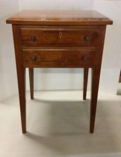 Vintage 2 Drawer Cherry Work Stand