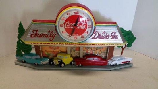 1990's Coca Cola Drive In Clock