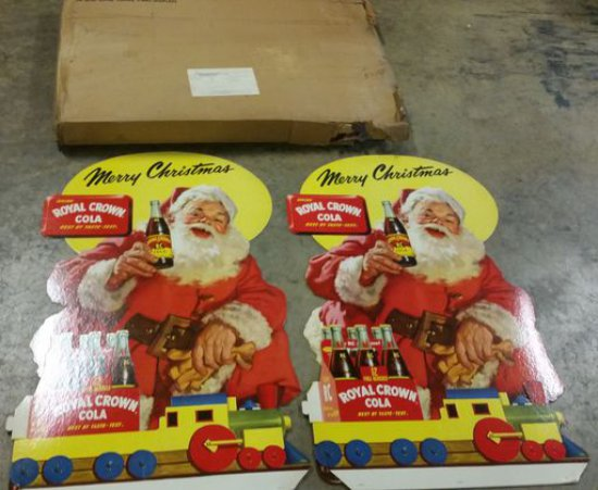 1950s NOS RC Cola Santa Standees
