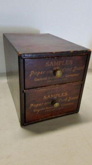 1890s Paper/Cardstock Sample Cabinet