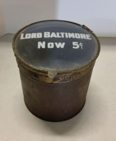 Late 1800s Lord Baltimore Cigar Tin
