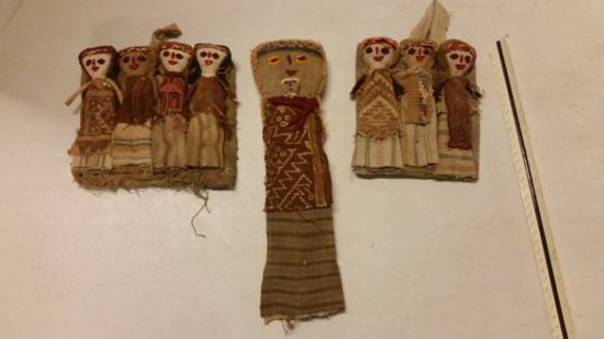 Early 1800s Handcrafted Peruvian Folk Dolls