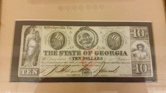 Milledgeville Ga Confederate $10 Note