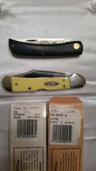 Case XX Copperlock & Sod Buster Jr. Knife