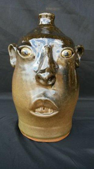 Early David Meaders Face jug