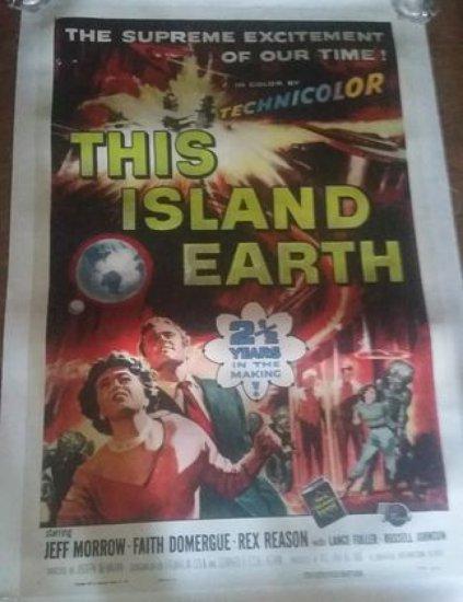 "Original 1955 ""This Island Earth"" Movie Poster"
