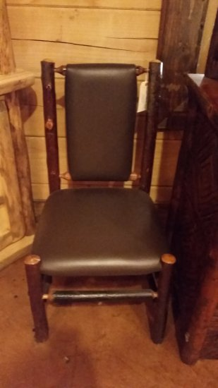 Leather Hand Crafted Hickory Chair