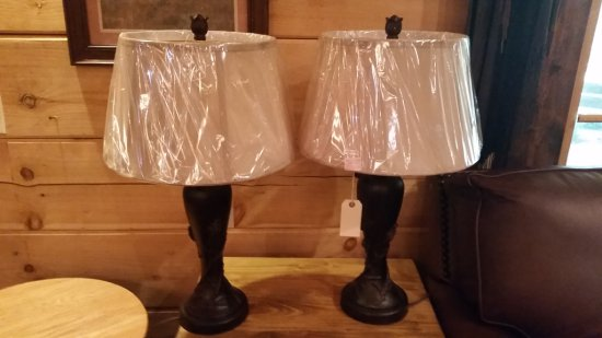 Pair of Denver Pine River Table Lamps